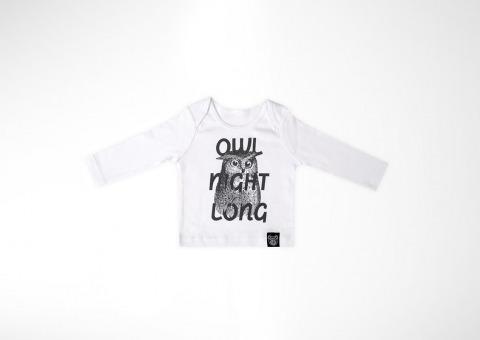 94d90fc3158c Detské tričko s dlhým rukávom Owl — Kompot.sk