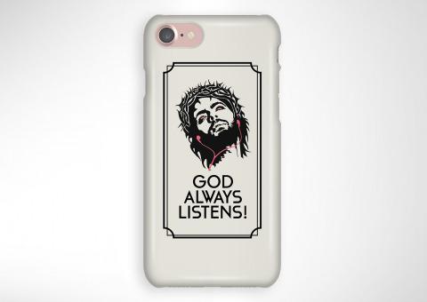 631d76090 Kryt na telefón God listens — Kompot.sk