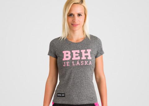 1d9b63d5e0c2 Bežecké dámske tričko Beh je láska Pink značky 150BPM — Kompot.sk