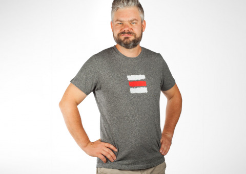 Turistické tričko Červená značka — Kompot b2dff36dc16