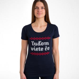 Tričko Ľuďom viete čo Navy (Girl)