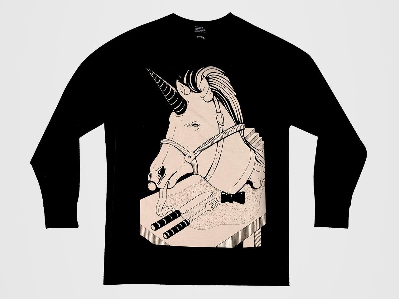 Mikina Unicorn Black — Kompot.sk b3709b87a28