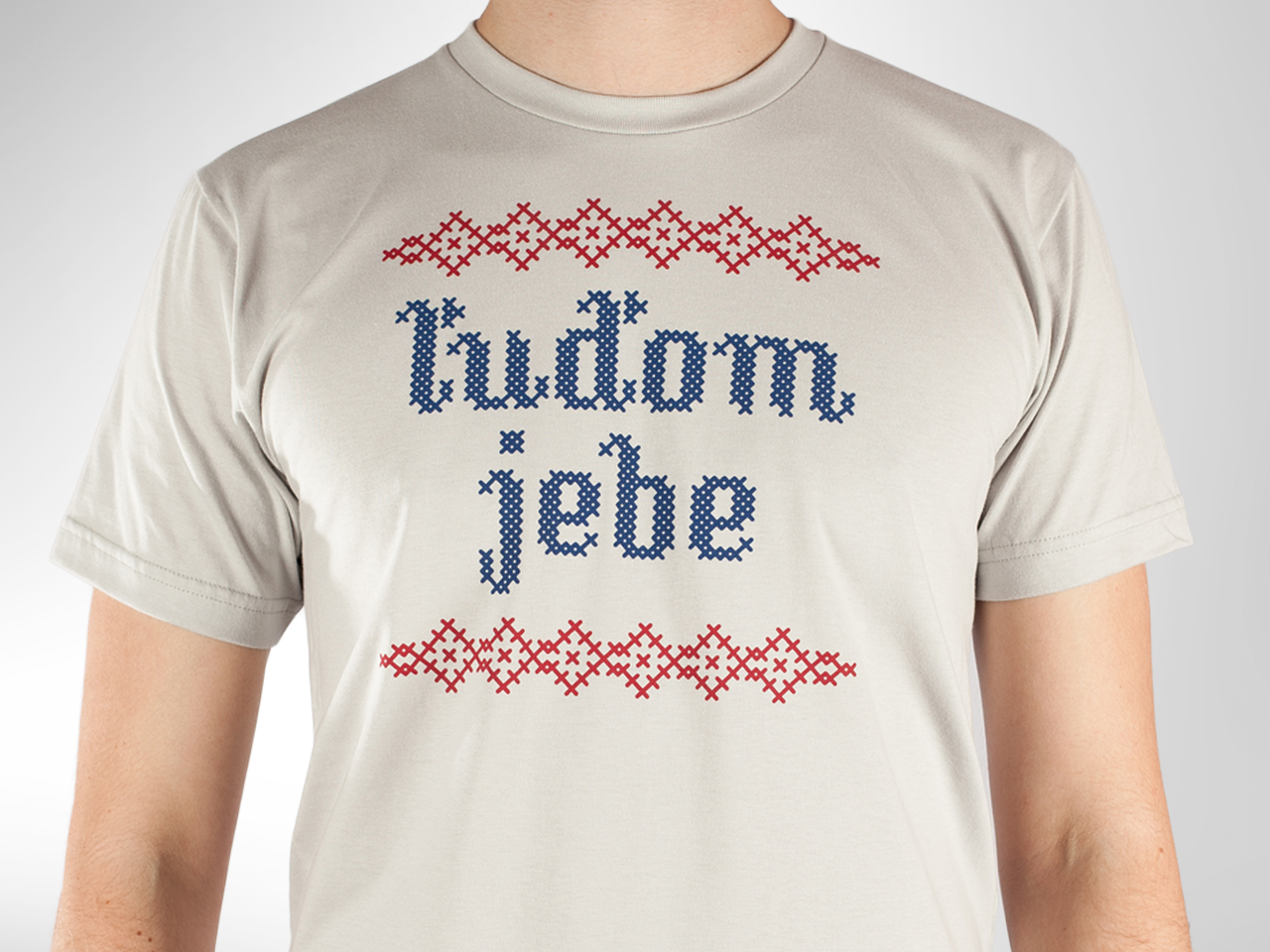Radikálne pánske tričko Ľuďom jebe New Silver od Kundy Crew — Kompot.sk 42b25c713f2